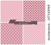 set  cute seamless pattern | Shutterstock .eps vector #147143969