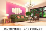 interior of the living room. 3d ... | Shutterstock . vector #1471458284