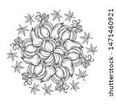 black and white autumn ornament.... | Shutterstock .eps vector #1471460921