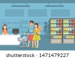 happy family shopping in... | Shutterstock .eps vector #1471479227
