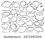 speech bubbles drawn with a... | Shutterstock .eps vector #1471492544