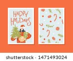 merry christmas and happy new... | Shutterstock .eps vector #1471493024