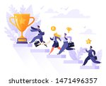 road to success. group of... | Shutterstock .eps vector #1471496357
