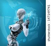 modern futuristic female...