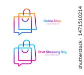 abstract shopping bag and chat...   Shutterstock .eps vector #1471510214