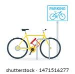 bicycle parking flat vector... | Shutterstock .eps vector #1471516277