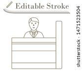 bank clerk icon. editable...
