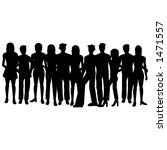 silhouettes of people | Shutterstock . vector #1471557