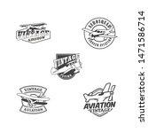aviation badge logo vintage... | Shutterstock .eps vector #1471586714