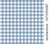 Blue Seamless Gingham Pattern...