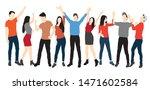 set of men and women standing ... | Shutterstock .eps vector #1471602584