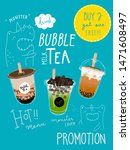 bubble tea special promotions... | Shutterstock .eps vector #1471608497