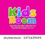 Vector Creative Logo Kids Room...