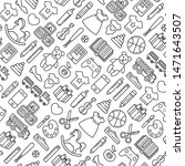 seamless pattern with toys... | Shutterstock .eps vector #1471643507