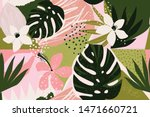 collage contemporary floral... | Shutterstock .eps vector #1471660721