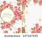 wedding vector greeting card...