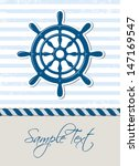 nautical background with... | Shutterstock .eps vector #147169547