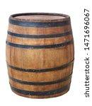 Large Antique Wooden Barrel...