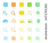 search icon set for web and...