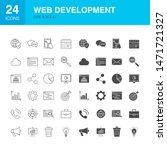 web development line glyph... | Shutterstock .eps vector #1471721327