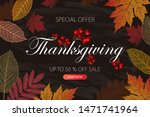 calligraphy of thanksgiving day ... | Shutterstock .eps vector #1471741964