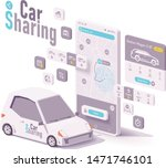 vector car sharing  hire or car ... | Shutterstock .eps vector #1471746101