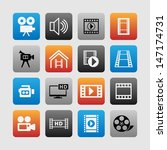 set of video icons | Shutterstock .eps vector #147174731
