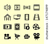 video icons | Shutterstock .eps vector #147174899