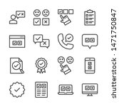 survey line icons set vector... | Shutterstock .eps vector #1471750847