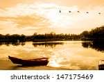 Sun Lake At Dusk  Located In...