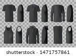 male black shirt vector... | Shutterstock .eps vector #1471757861