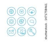 communication icons set....