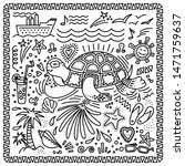 hand drawn doodle style set ... | Shutterstock .eps vector #1471759637