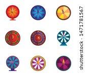 Stock vector spin lucky wheel icon set cartoon set of spin lucky wheel vector icons for web design isolated 1471781567