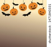 happy halloween day  monster in ... | Shutterstock .eps vector #1471840331