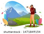photographer with photo camera... | Shutterstock .eps vector #1471849154