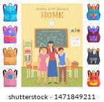 school is my second home... | Shutterstock .eps vector #1471849211