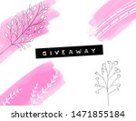 giveaway banner with pink paint ... | Shutterstock .eps vector #1471855184