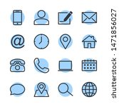 computer and mobile icons.... | Shutterstock .eps vector #1471856027