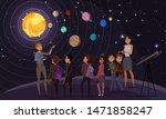 children in observatory flat...   Shutterstock .eps vector #1471858247