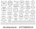 calligraphic design elements .... | Shutterstock .eps vector #1471860014