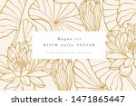 vintage card with lotus flowers.... | Shutterstock .eps vector #1471865447