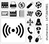 set of 17 business icons ... | Shutterstock .eps vector #1471869881