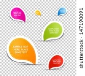 colorful vector stickers on... | Shutterstock .eps vector #147190091