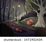 creepy forest landscape with... | Shutterstock .eps vector #1471902434