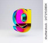 holographic letter g lowercase...   Shutterstock . vector #1471910804