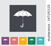 umbrella flat icon. vector... | Shutterstock .eps vector #147192125