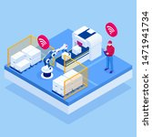 isometric iot smart industry 4... | Shutterstock .eps vector #1471941734