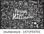 hand drawn vector set of... | Shutterstock .eps vector #1471953701