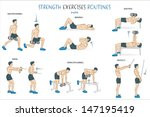 a collection of strength... | Shutterstock .eps vector #147195419